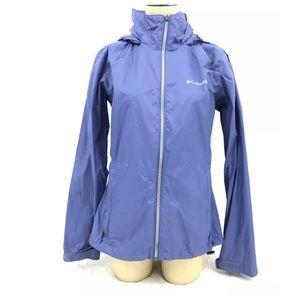 Columbia Windbreaker Jacket SZ M Womens Waterproof